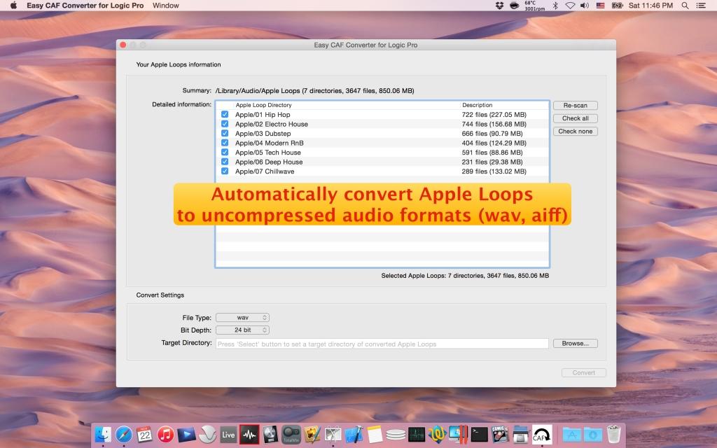 Easy CAF Converter for Logic Pro Overview